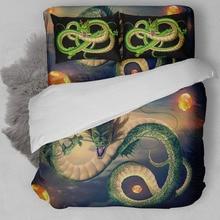 3D Cyan Dragon bedding polyster duvet cover set single twin full queen king size bedlinen