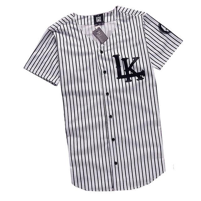 #1101 2016 Baseball shirts women men Streetwear KNYEW 07  Hip hop t shirt Harajuku homme LK  jersey V-Neck Baseball T-shirt