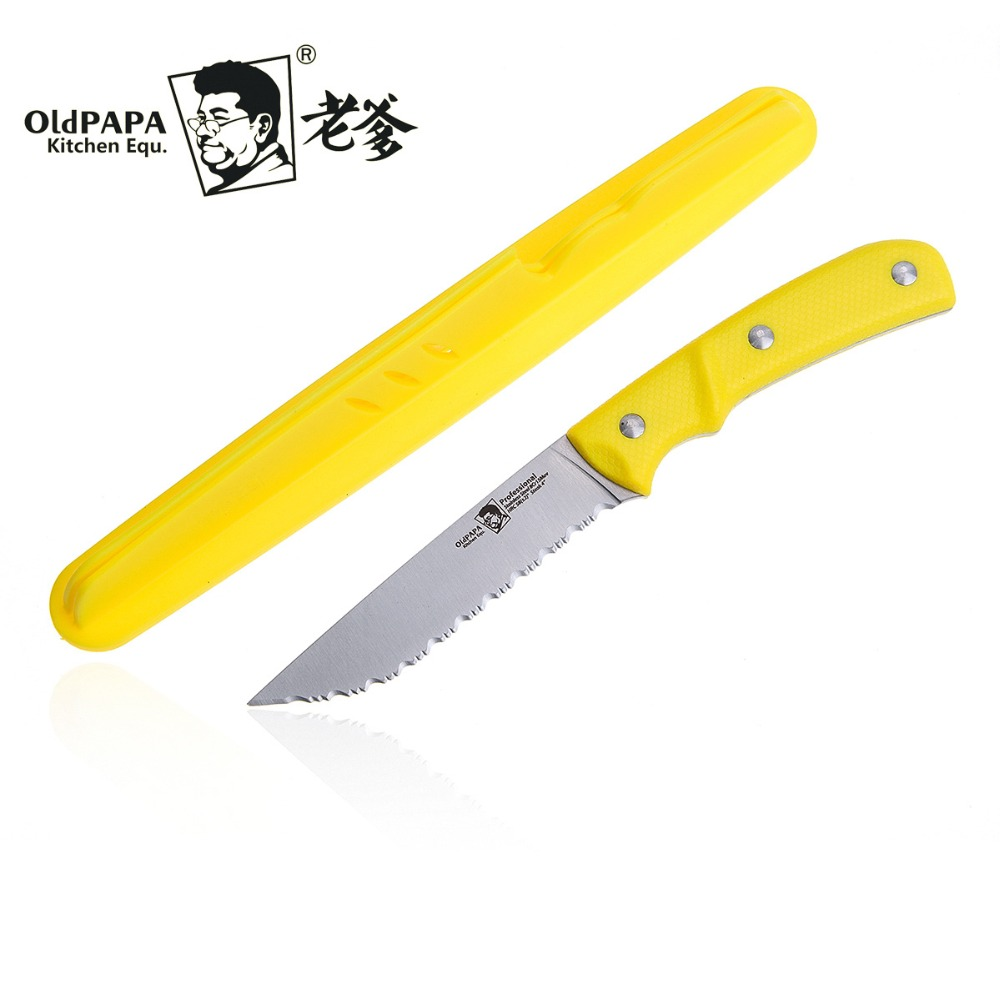 online get cheap case knife steel aliexpress com alibaba group oldpapa 8cr15mov new style serrated fruit knife tomato lemon slicer multifunctional paring portable mini peeling knives case