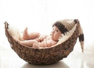 Nouveauté nouveau-né pas de couverture main série enfants photographie grand croissant photographie bébé infantile panier accessoires jouet cadeau