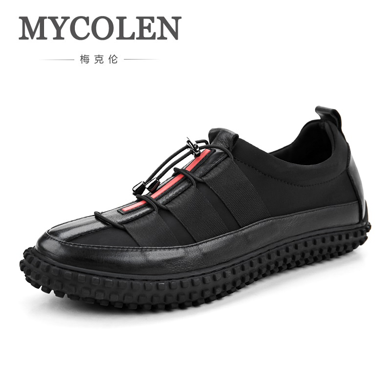 MYCOLEN Brand New Black Fashion Style Men Shoes High Quality Comfortable Men Shoes Lace Up Casual Man Shoes Sapato Masculino men s leather shoes vintage style casual shoes comfortable lace up flat shoes men footwears size 39 44 pa005m