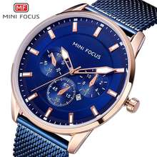Relogio Masculino MINI FOCUS 2019 Stainless Steel Strap Quartz Watch Fashion Mens Watches Top Brand Luxury Clock relojes hombre