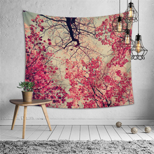 Forest Psychedelic Wall Tapestry Wall Hanging Boho Decor Wall Cloth Tapestries Tree Mandala Tapestry Hippie Throw Rugs Wandkleed tree forest waterproof wall hanging tapestry