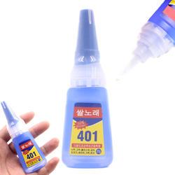20 г 401 Многоцелевой супер быстрый сухой жидкий клей изделия из дерева, пластиковые игрушки сотовый телефон оболочки клей школьные