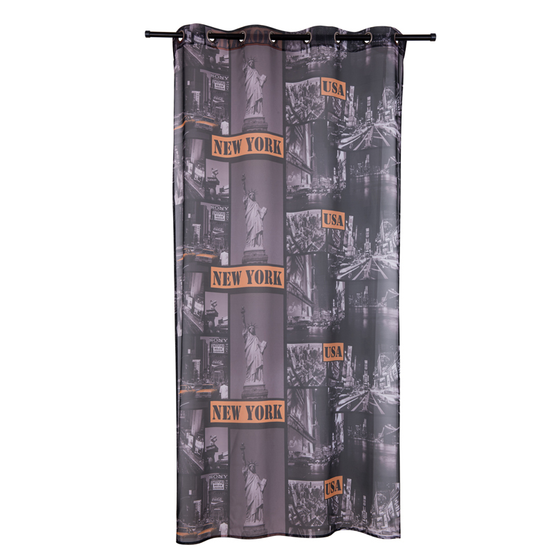 New York City Window Curtain Living Room Terylene Tulle Curtains For Kitchen Hook Modern Style Cortina 1Piece In From Home Garden On