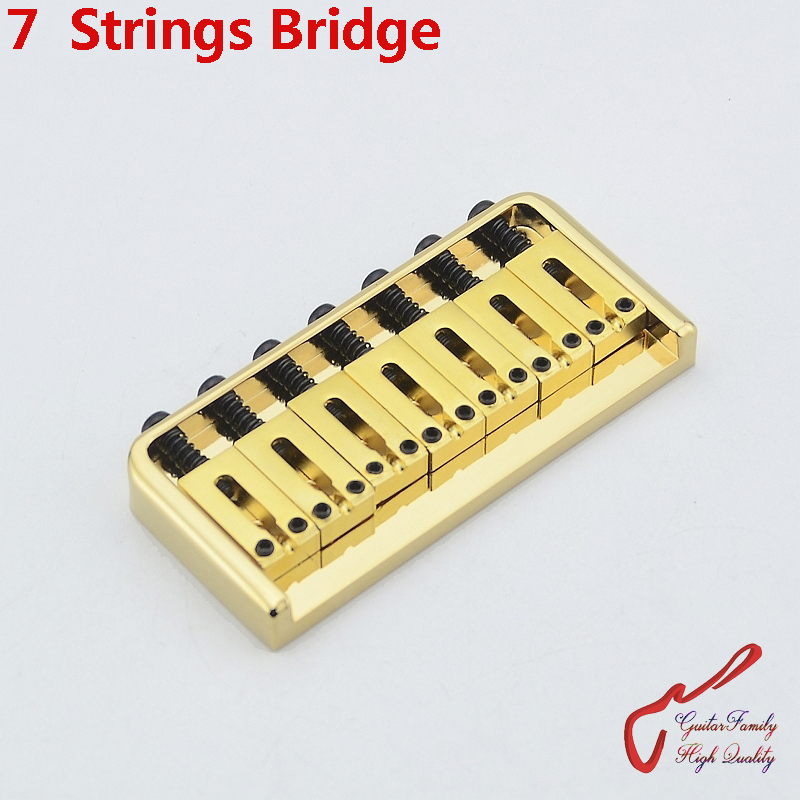 1 Set GuitarFamily Super Quantity 7 Strings Electric Guitar Fixed Bridge Stainless Saddle / Steel Plate Gold MADE IN KOREA цена