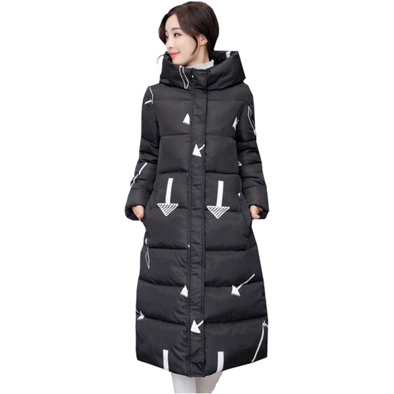 Winter Women Long Hooded Coat Slim Parkas Thickening Basic Warm Outerwear Female Wadded Padded Jacket Cotton Coats PW0994 high quality thickening warm parka hooded women winter jacket snow wear female long slim winter cotton padded wadded coat cm1490