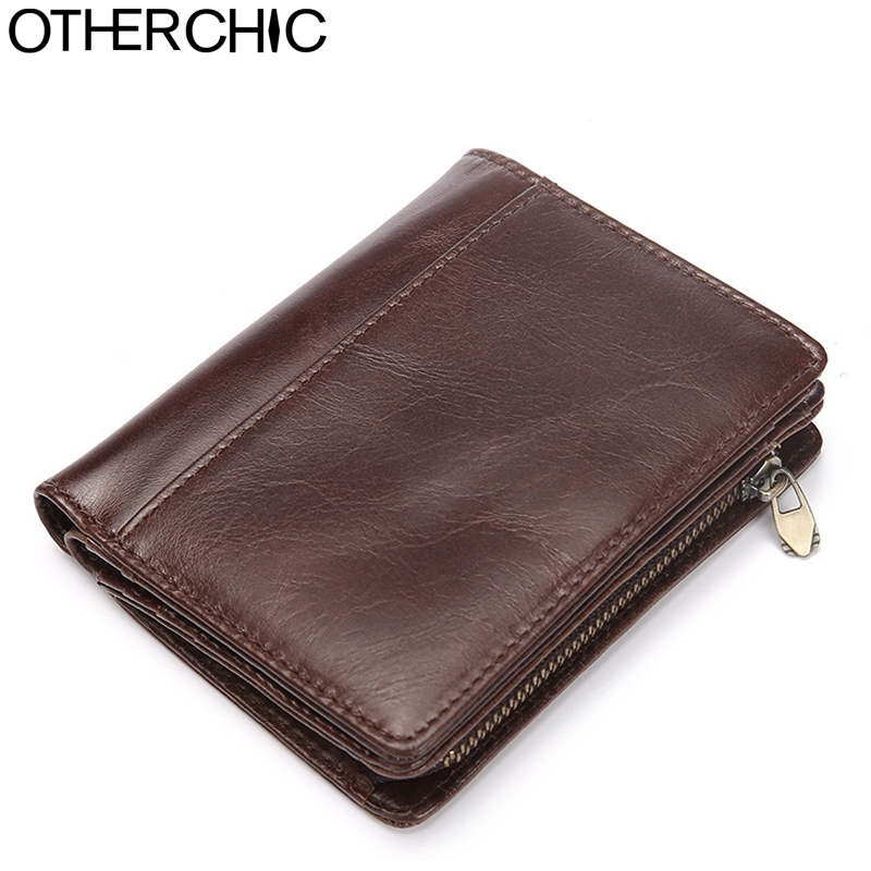 OTHERCHIC Short Wallets Men Genuine Leather Purse Men Coffee Money Clip Vintage Roomy Small Wallet Men Purse Coin Pocket 7N06-70 2017 new wallet small coin purse short men wallets genuine leather men purse wallet brand purse vintage men leather wallet