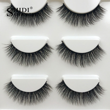 new 3 pairs long false eyelashes natural 3d mink lashes makeup hand made strip fake eyelash extension volume mink eyelashes #X25