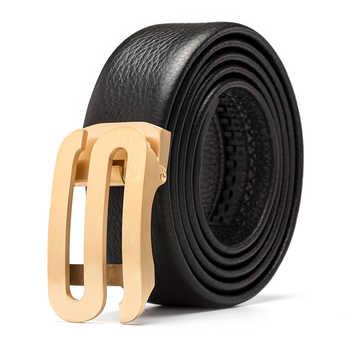 Genuine Leather Cowhide Automatic buckle Designer belt men's high quality Men Belt Luxury brand belt birthday present - DISCOUNT ITEM  50% OFF All Category