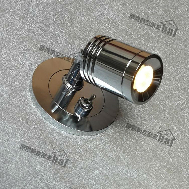 Topoch Recessed Wall Lights with Switch on-off Driver Inside the Wall AC100-240V DC 12V 24V Minimalist Neat Chrome Finish topoch minimalist gooseneck reading lamp for bed polished chrome finish 3w led cree 200lm hose adapative ac100 240v dc12v 24v