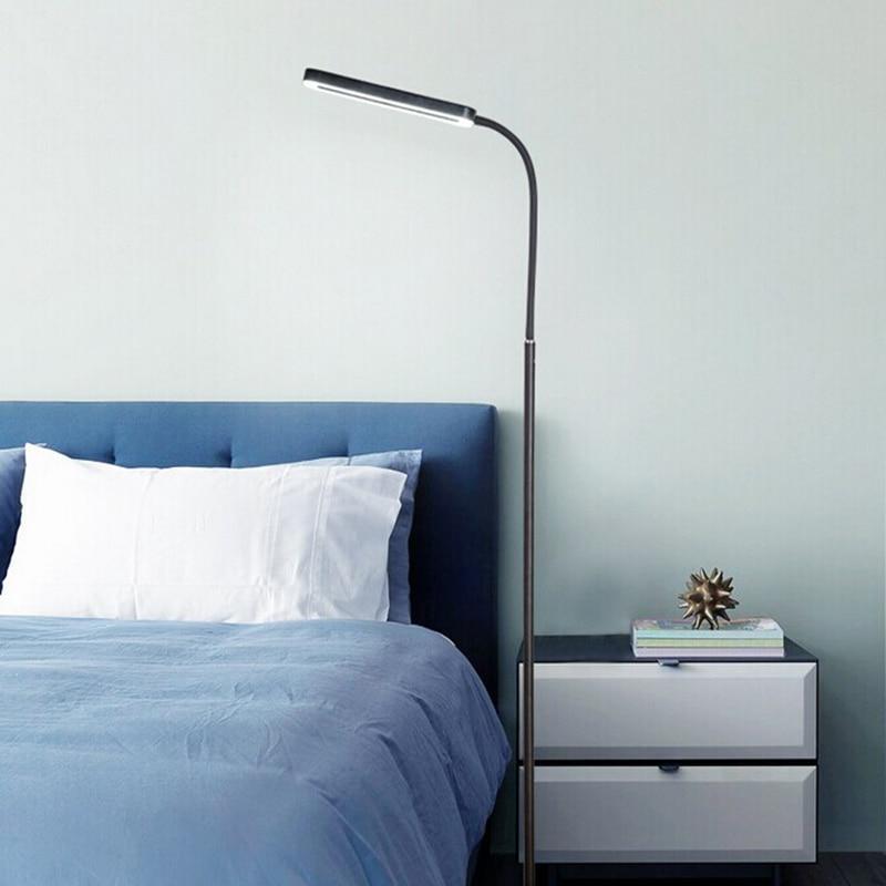 Black White Modern Simple 8W LED Floor Standing Lamp Bedside Floor Lamp Dimmable Standing Floor Light Reading Lamp цена 2017