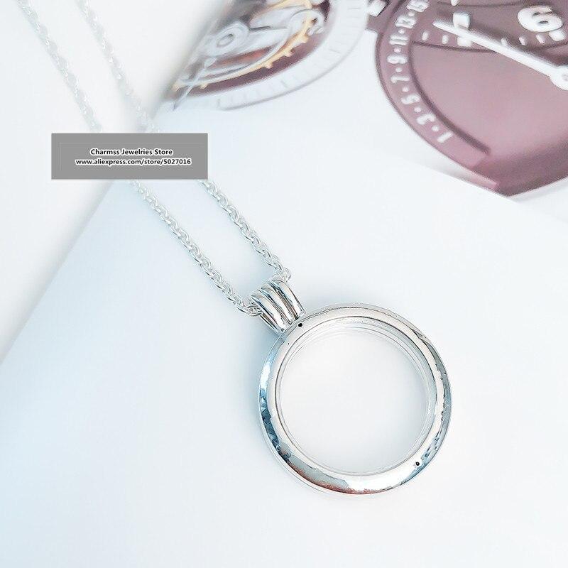 2019 nouveau Euro charme logo sculpture S925 argent 925 mode flottant colliers boîte femmes cadeaux dame bijoux, 1pz