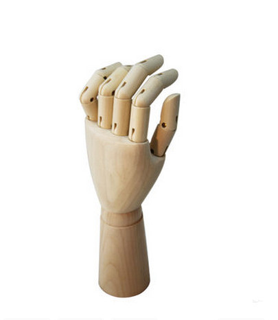 10 inch fashinable top level artist painting wooden hand articulate