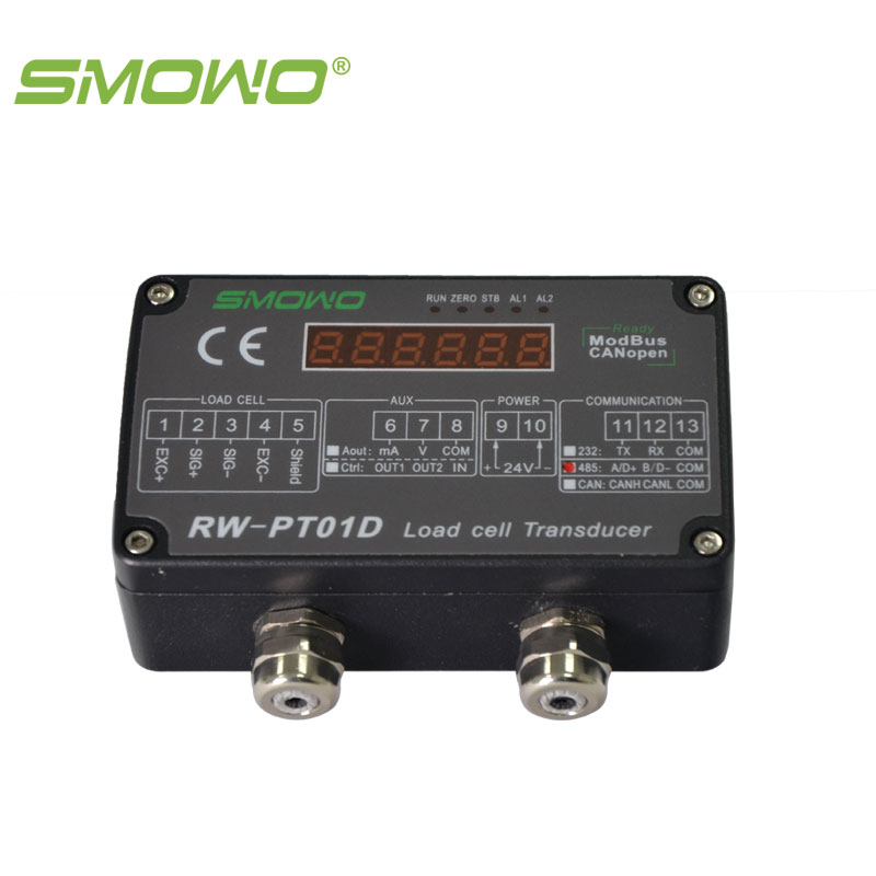 high precision digital load cell/sensor amplifier/transmitter RW-PT01D precision 0.1% pressure sensor output amplifier 0 10v 4 20ma transmitter rw st01a weighing force measurement balance load cell amplifier