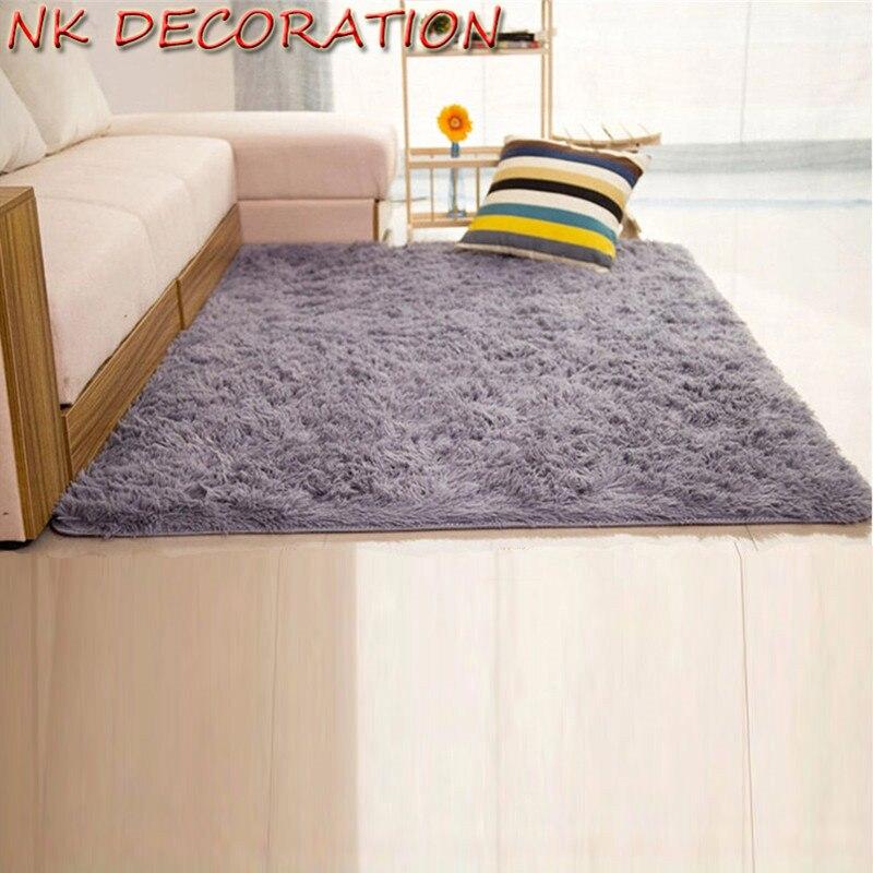Nk 2017 New Fluffy Living Room Carpet Shaggy Soft Area Rug Rectangle Floor Mat Gray Children