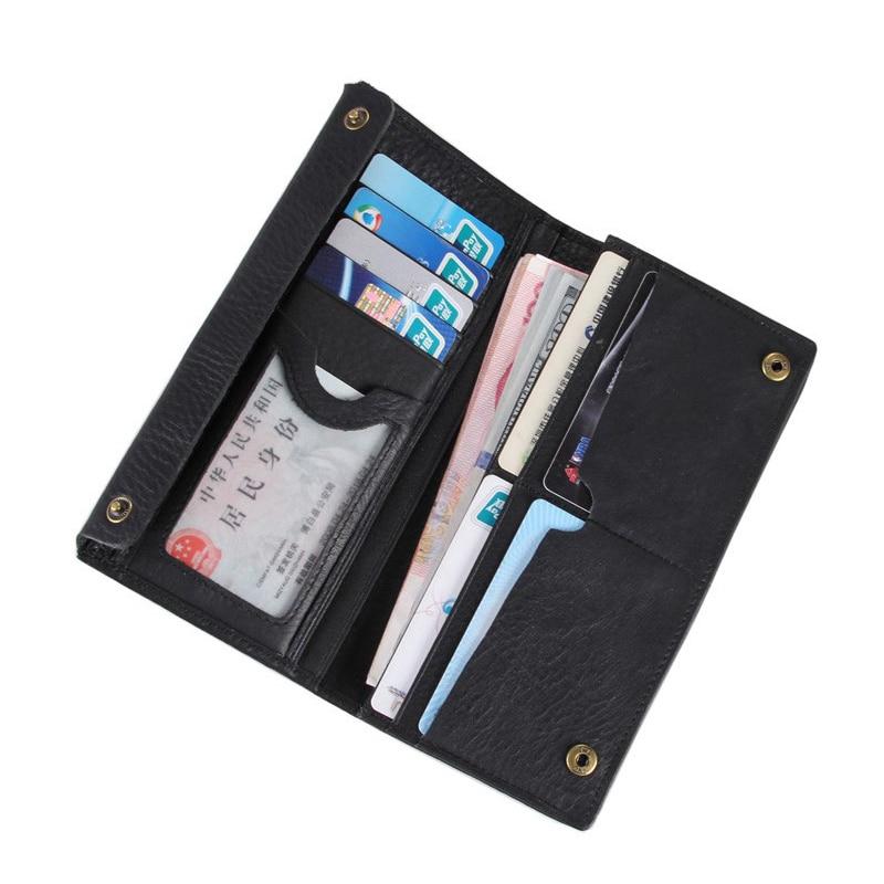 Long Purse  Men Wallet Business Mens  Genuine Leather Solid WalletsLong Purse  Men Wallet Business Mens  Genuine Leather Solid Wallets