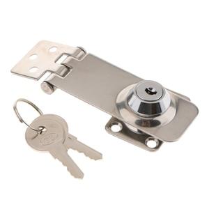 Image 1 - 1 Pcs Silver Locking Lift Handle Flush Boat Latch With Key Can Locking Flush Pull Latches Deck Hatch Marine/Yacht Hardware