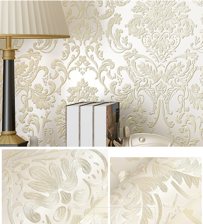 3D Damask Wallpaper Roll for Walls Bedroom Sofa Background 3D Papel De Parede 3d Damascus wall paper Living Room Home Decor vintage style floral wallpaper roll para sala mural background papel de parede floral 10m for bedroom walls home decor dzk82