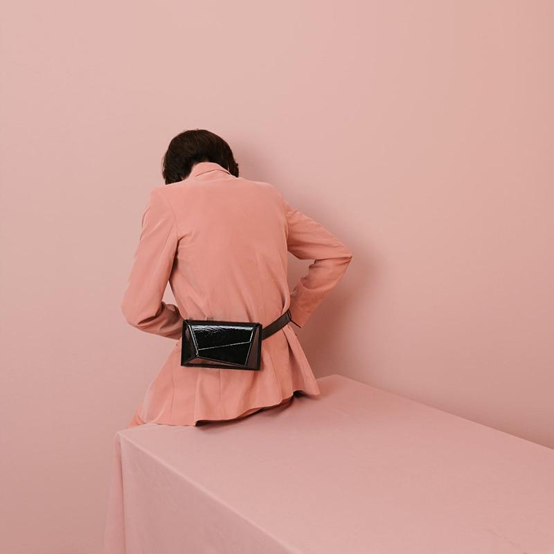 Caker Brand 2019 Women Colorful Geometric Waist Bags Fashion Fanny Waist Pack Colorful Purple Black White Green Khaki Belt Bags