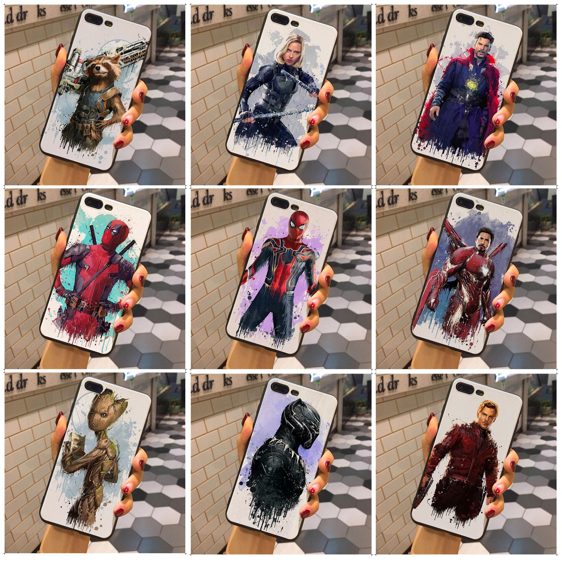 Amiable Maiyaca Marvel Superhero Doctor Strange Rocket Black Widow Quote Case For Iphone X Xsmax Xr Xs And 7 8plus 6 6splus 5 5s Se Case Soft And Antislippery Half-wrapped Case
