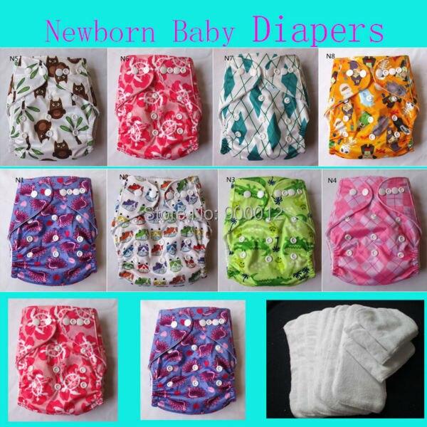 1 компл. новорожденных карманные тканевые подгузники со вставками для маленьких Обувь для девочек мальчиков младенцев Ткань подгузники для...