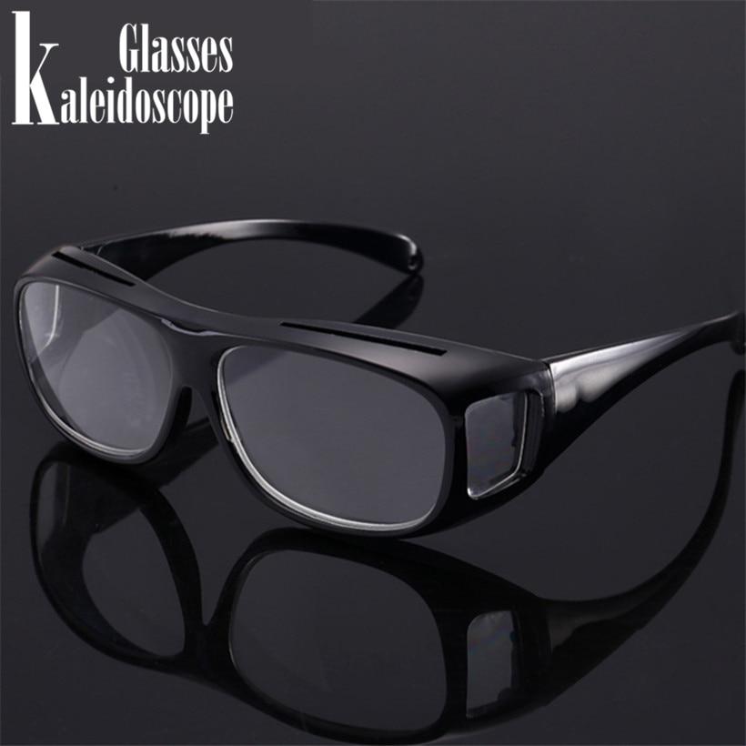 Kaleidoscope Glasses Reading Glasses Magnifier Unisex Magnifying Presbyopia Glasses Big Vision Anti-fatigue Eyewear +250.+300