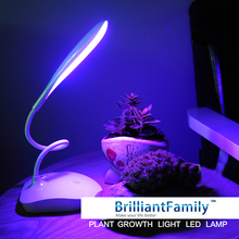 LED Full spectrum Fleshy plant grow light indoor plant growth table lamp Vegetable Greenhouse planting lights USB rechargeable