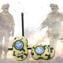 2PCS Kids Military Camouflage Walkie Talkies Toy Two Way Radio Radio Communicator Electronic Toys for Children