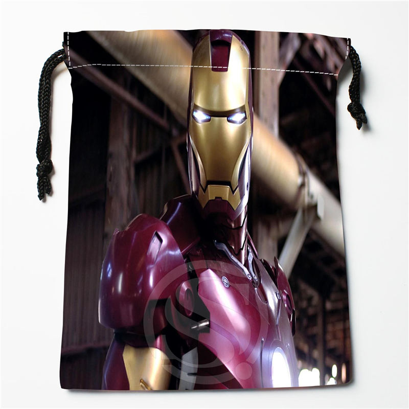 W-122 New Captain America Avengers Custom Logo Printed  Receive Bag  Bag Compression Type Drawstring Bags Size 18X22cm E801EP122