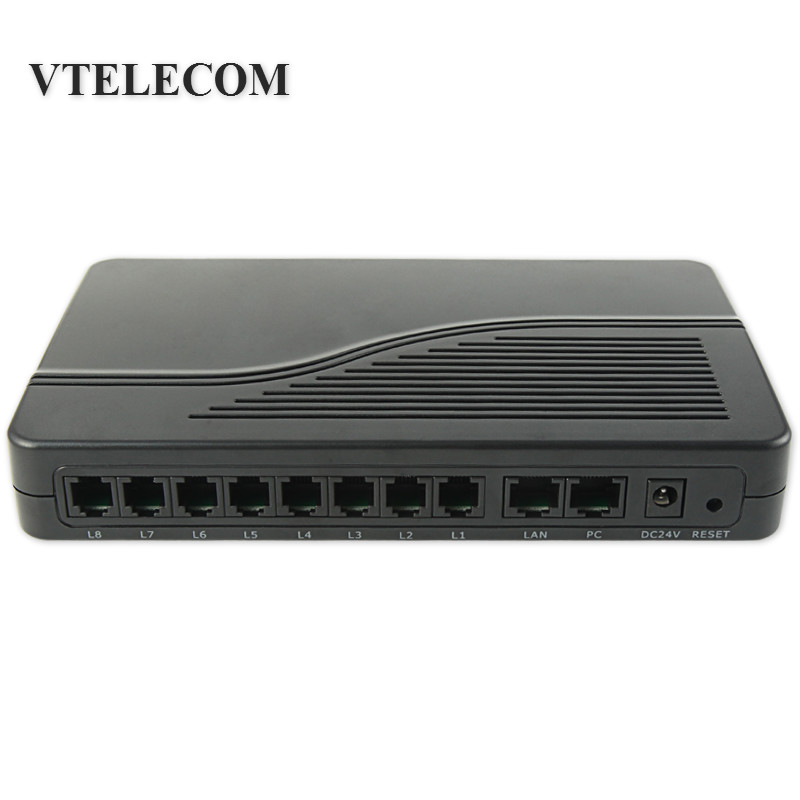 8 Ports VoIP FXS Gateway,VoIP ATA HT-882 FXS Ports for Phone Sets or PBX trunk line VoIP Gateway цена