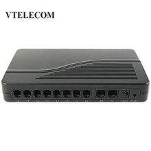 8 Порты VoIP шлюз FXS VoIP ATA HT-882 FXS Порты для телефонных аппаратов или УАТС линии шлюз VoIP