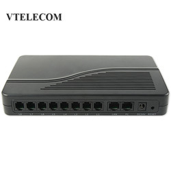 8 Ports VoIP FXS Gateway,VoIP ATA HT-882 FXS Ports for  Phone Sets or PBX trunk line VoIP Gateway