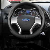 38cm car styling leather steering wheel Cover for ford focus fiesta mondeo kuga ecosport interior accessories