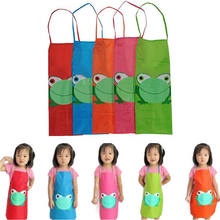 1PC Kid Children Lovely Waterproof Apron Household Cartoon Bib Kitchen Animals Painting Craft Apron For Boy Girl(China)