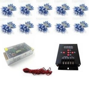 1000 шт. 12 мм WS2811 IC полноцветный пиксельный светодиодный модуль света DC 5 В вход IP68 водонепроницаемый RGB цветной цифровой светодиодный пиксель...