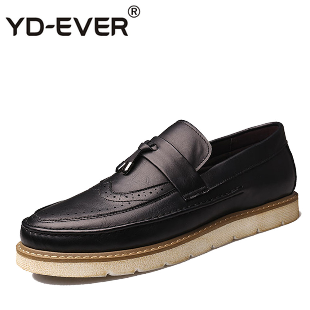 Noir Hommes gris Talon Britannique Chaussures ever Vintage Derbies Mocassins En Casual Plat Richelieus marron Nouveau Gland Yd Brogues Bateau Cuir RTHnxqRF
