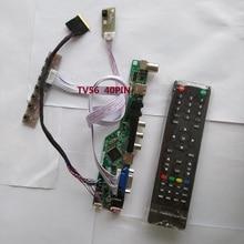 "Комплект для контроллера B154PW04 V0 плата драйвера ТВ AV USB HDMI lcd светодиодный 15,"" 1440X900 VGA пульт дистанционного 40pin LVDS панель экрана"