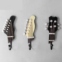 Guitar Hook Resin Hook Decorative Household 3 Pieces Set Key Hat Hooks