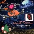 Nueva llegada bolsillo selfie wingsland s6 rc drone drone wifi fpv con 4 K UHD Cámara FPV Quadcopter VS DJI mavic pro drone