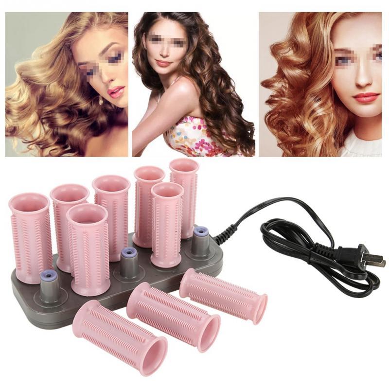 Image 3 - Электрический ролик для волос, с подогревом, 10 шт./компл., 205 3 см, инструменты для укладки волос, массажный ролик, папильотки и аксессуарыБигуди   -