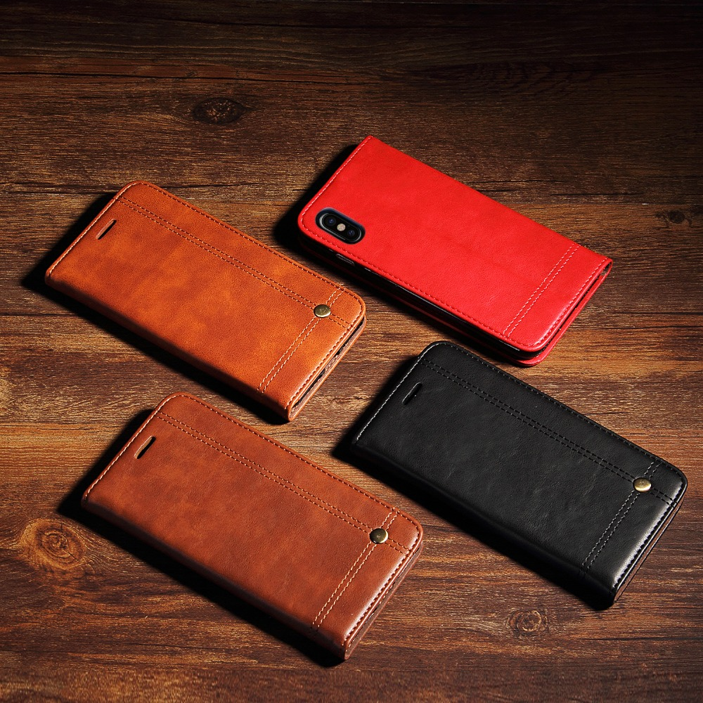 for iphone 5 5s SE 6 6s 7 8 plus phone case leather flip cover luxury card slots for iphone 8 plus X XS XR XS max iphoneXS max