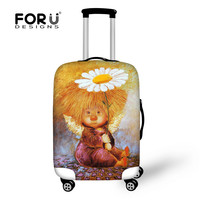 FORUDESIGNS Elastic Luggage Protective Dust Covers Printing 18 30inch Travel Suitcase Cover Waterproof Luggage Suitcase Cover
