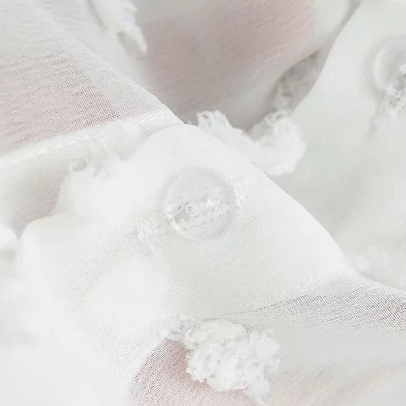 frauen Chiffon Weiß Bluse