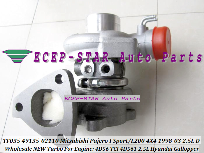 TF035 49135 02110 28200 4A200 Turbo Turbocharger For Mitsubishi Pajero Sport L200 4X4 For HYUNDAI Gallopper 4D56 TCI 4D56T 2.5L|turbocharger wheel|turbocharger cat|turbocharger kkk - title=