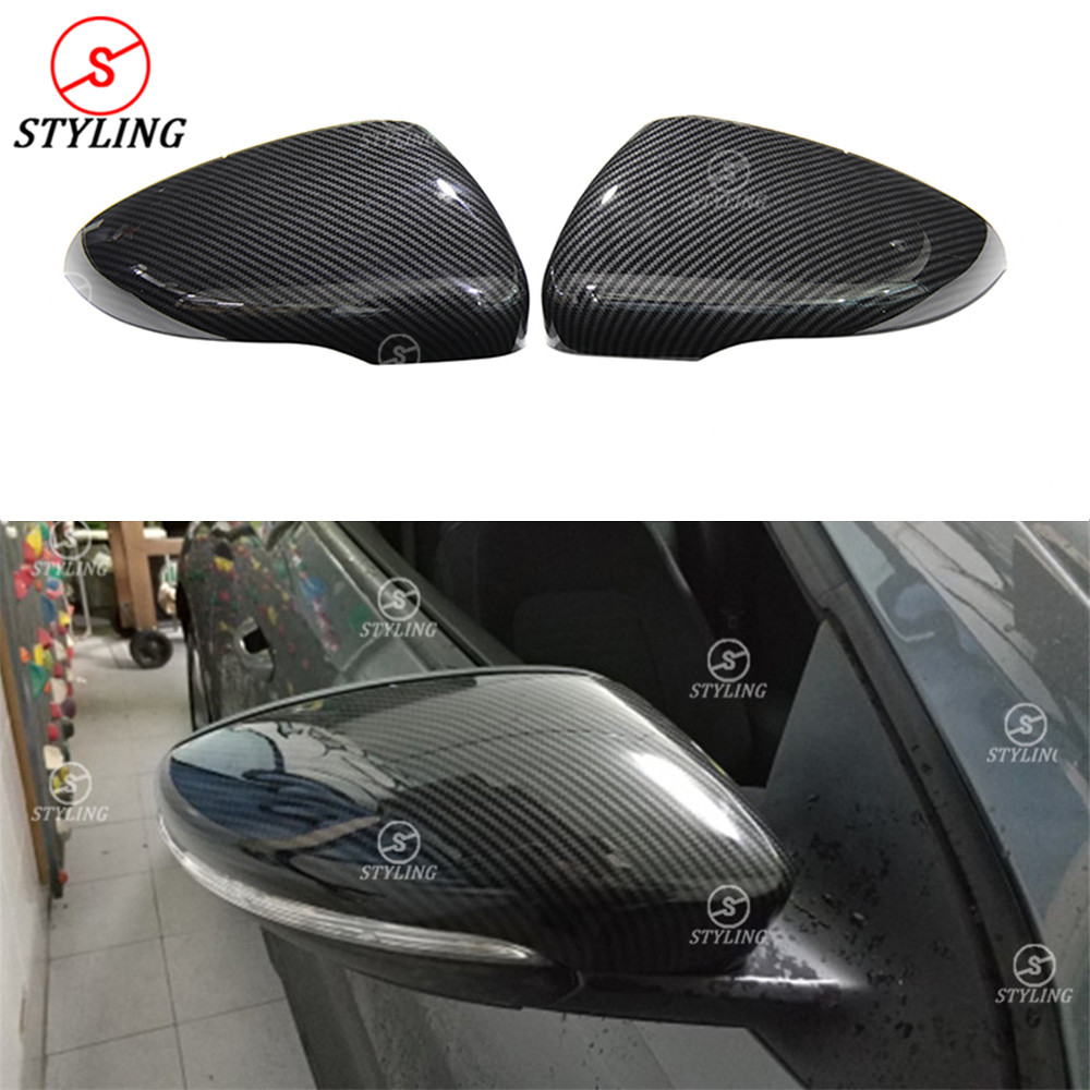 1:1 Replacement For Volkswagen Golf 6 GTI R20 MK6 MK7 Scirocco CC Passat Beatles Carbon Fiber look Rear View caps Mirror Cover high quality golf 6 mk6 carbon fiber full replacement car review mirror cover caps for vw golf6 mk6