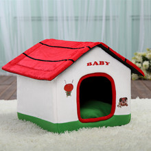 New Fashion Durable Dog Cartoon Kennel Removable Luxury Small House Beds Cat Nest Puppy Villa Pet Mats Supplies ATB-240