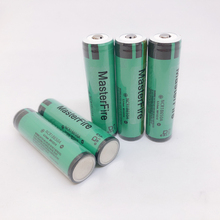 лучшая цена 18pcs MasterFire Original Battery For Panasonic Protected 18650 NCR18650A 3.7V 3100mAh Rechargeable Lithium Batteries with PCB