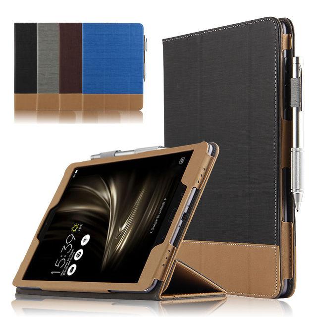 Case para asus zenpad 3 s 10 z500kl protectora cubierta elegante de cuero tableta para asus zenpad z10 zt500kl 9.7 pulgadas pu protector de la manga