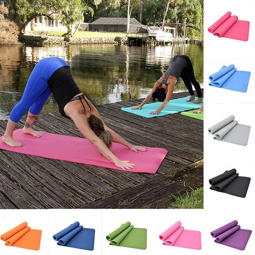 Tapis de Yoga épais antidérapant Fitness confort mousse insipide solide toutes les saisons Gym exercices